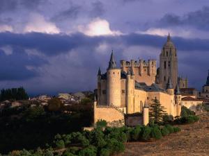 Alcazar on Stormy Day, Segovia, Castilla-Y Leon, Spain by John Banagan