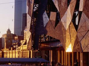 Exterior Detail of Federation Square, Melbourne, Australia by John Banagan