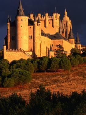 Exterior of Alcazar on Stormy Day, Segovia, Spain by John Banagan