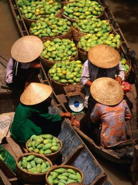 Floating Market along the Mekong Delta, an Giang, Vietnam by John Banagan