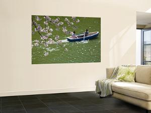 Rowing Along Cherry Blossom-Lined Chidorigafuchi by John Banagan