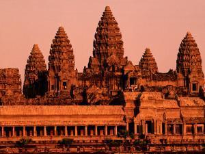 Sunrise over the Ancient Site of Angkor Wat by John Banagan