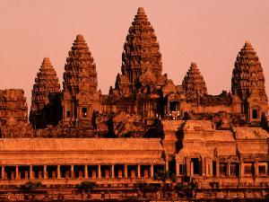 Sunrise over the Ancient Site of Angkor Wat by John Banagan