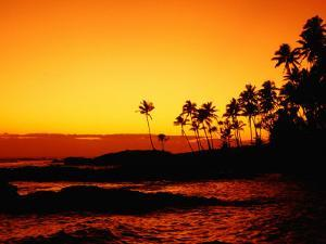 Sunset Over Paradise Beach, Upolu, Samoa, Upolu by John Banagan