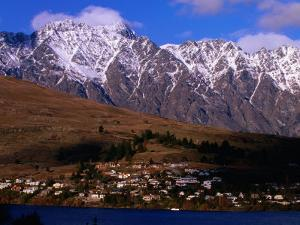 The Remarkables Mountains in Background, Queenstown, New Zealand by John Banagan