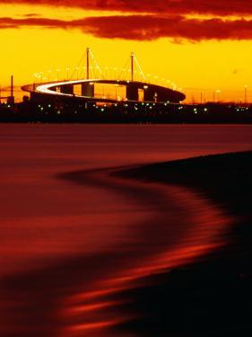 Westgate Bridge at Sunset from Middle Park, Melbourne, Victoria, Australia by John Banagan