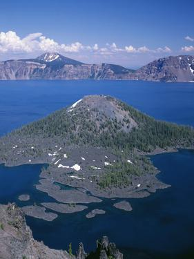 OR, Crater Lake NP. View east across Crater Lake from directly above Wizard Island by John Barger