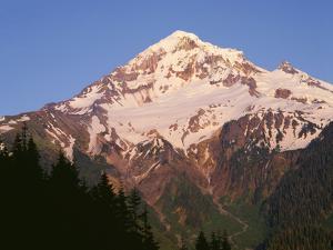 Oregon. Mount Hood NF, Mount Hood Wilderness, evening light on west side of Mount Hood by John Barger