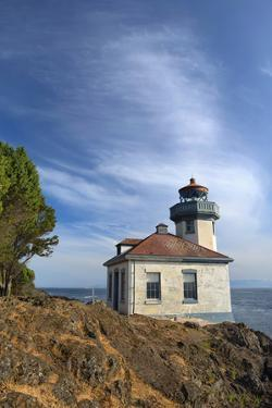 USA, Washington State, San Juan Island, Lime Kiln Point Lighthouse by John Barger