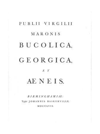 'John's Baskerville's Virgil', 1757, (1946)