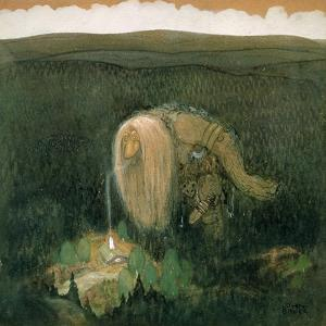 A Forest Troll, c.1913 by John Bauer