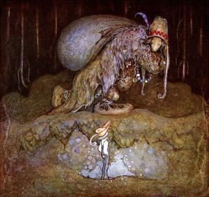 Boy Meeting a Troll in the Forest by John Bauer