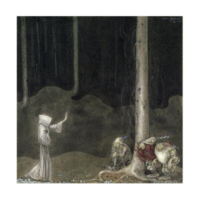 Brother St. Martin and the Three Trolls, 1913 by John Bauer