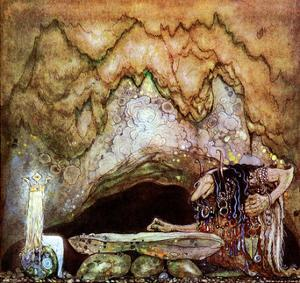 Princess in the Troll Kingdom by John Bauer
