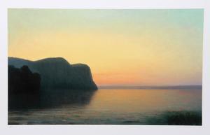Hook Mountain, Yellow Sky by John Beerman