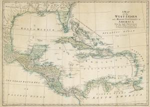 The Caribbean with the West Indies and the Coasts of the United States and the Spanish Possessions by John Blair
