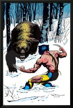 Classic X-Men No.25 Cover: Wolverine Swinging by John Bolton