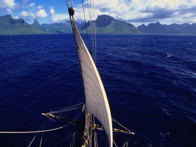 Mainstay of Tallship, Bora Bora, the French Polynesia