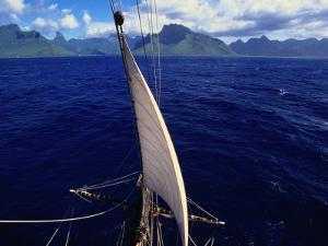 Mainstay of Tallship, Bora Bora, the French Polynesia by John Borthwick