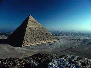 Pyramid of Chephren from Top of Pyramid of Mycerinus Giza, Egypt by John Borthwick