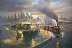 A Wet Evening - Katoomba by John Bradley