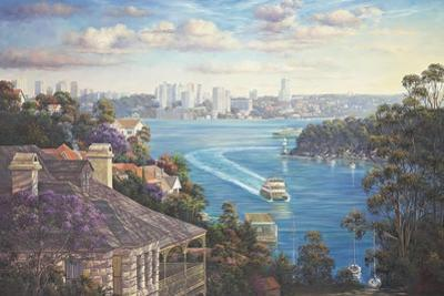Afternoon Light Sydney Harbour by John Bradley