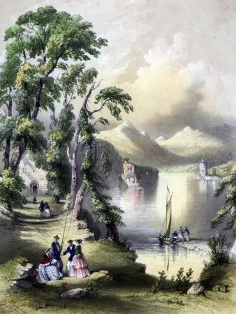 The Lake of Killarney with the Ruins of Innisfallen Abbey, Ireland, 19th Century