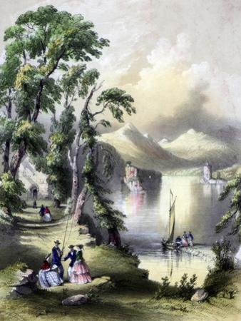 The Lake of Killarney with the Ruins of Innisfallen Abbey, Ireland, 19th Century by John Brandard