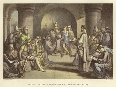 Alfred the Great Submitting His Laws to the Witan
