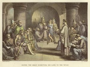 Alfred the Great Submitting His Laws to the Witan by John Bridges