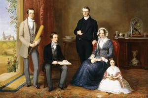 The Reverend John Witherington, Vicar of Tetsworth, Oxon, with His Family, 1854 by John Bridges