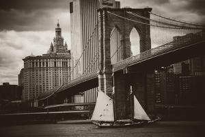 The Sailboat and the Bridge by John Brooknam