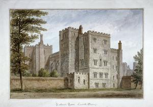 Lollard's Tower, Lambeth Palace, London, 1831 by John Buckler