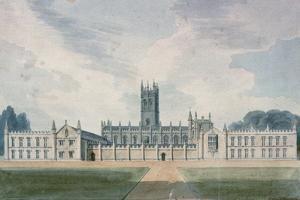 Magdalen College, Oxford, 1804 by John Buckler