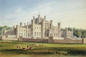North East View of Lowther Castle, Westmoreland, Seat of the Earl of Lonsdale, 1814 by John Buckler