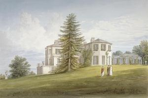 South-West View of Bromley Hill, Bromley, Kent, 1815 by John Buckler