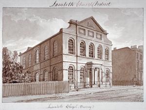 View of a Chapel on York Road, Lambeth, London, 1828 by John Buckler