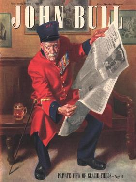John Bull, Chelsea Pensioners Reading Newspapers Magazine, UK, 1947