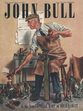 John Bull, Cobblers Shoe Menders Repairing Man Shoes Magazine, UK, 1947