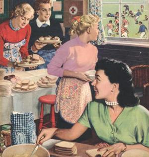 John Bull, Cooking Rugby Tea Girlfriends Baking Magazine, UK, 1956