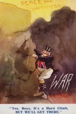 John Bull Making the Climb from War to Peace and Happiness
