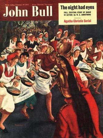 John Bull, Pancakes Day Races Magazine, UK, 1951