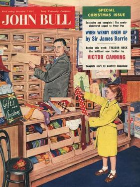 John Bull, Ties Salesman Salesmen Girls Gifts Shopping Mens Magazine, UK, 1957
