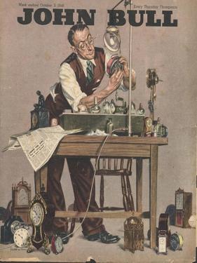 John Bull, Watch Clock Repairing Menders Man Clocks Magazine, UK, 1948