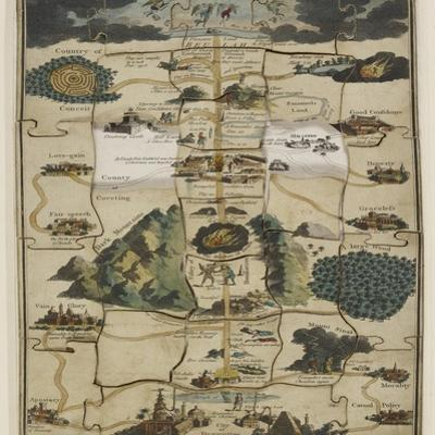 Jigsaw Puzzle of The Pilgrim's Progress Dissected, or a Complete View of Christian's Travels, 1790 by John Bunyan