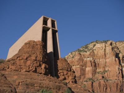 Chapel of the Holy Cross Church on a Cliff in Sedona, Arizona by John Burcham
