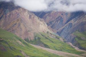 Clouds and Mountains in Denali National Park, Alaska by John Burcham