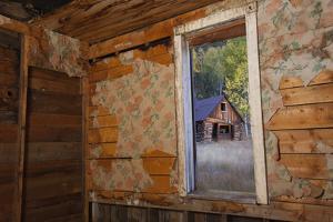 Old Ghost Town Interior in Bonanza, Colorado by John Burcham