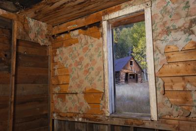 Old Ghost Town Interior in Bonanza, Colorado