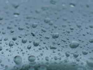 Raindrops on a Windshield by John Burcham